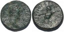 Ancient Coins - Marcus Aurelius AE21 of Cilicia, Hieropolis-Kastabala River god Pyramus swimming right