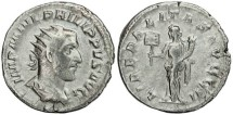 Ancient Coins - Philip I 'the Arab' silver antoninianus - LIBERALITAS AVGG II