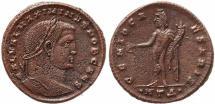 Ancient Coins - Roman coin of Maximinus II Ae follis - GENIO CAESARIS - Heraclea
