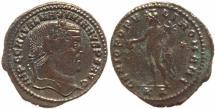 Ancient Coins - Roman coin of Galerius Ae large follis - GENIO POPVLI ROMANI - Nicomedia