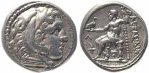 Ancient Coins - Kings of Macedon Alexander III AR tetradrachm - Amphipolis mint 310-294 BC.