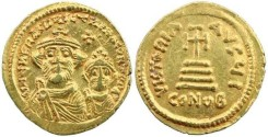 Ancient Coins - Heraclius (610-641 AD) Gold Solidus - Constantinople mint - nicely struck well centred