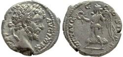 Ancient Coins - Septimius Severus AR silver denarius - VICT AVGG COS II PP