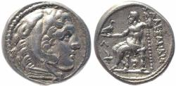 Ancient Coins - Kings of Macedon Alexander III AR tetradrachm - Amphipolis mint 310-294 BC.