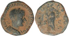 Ancient Coins - Gordian III sestertius - FELICITAS AVG S - C