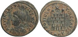 Ancient Coins - Roman coin of Constantius II -  PROVIDENTIAE CAESS - Heraclea