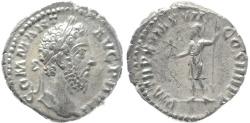 Ancient Coins - Roman coin of Commodus AR silver denarius - PM TR P X IMP VII COS IIII P P