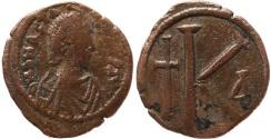 Ancient Coins - Byzantine coin of Anastasius Ae half follis - 26mm, 8.50 grams