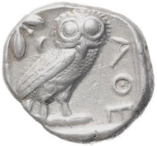 Ancient Coins - Attica, Athens AR silver Tetradrachm - Athena and Owl