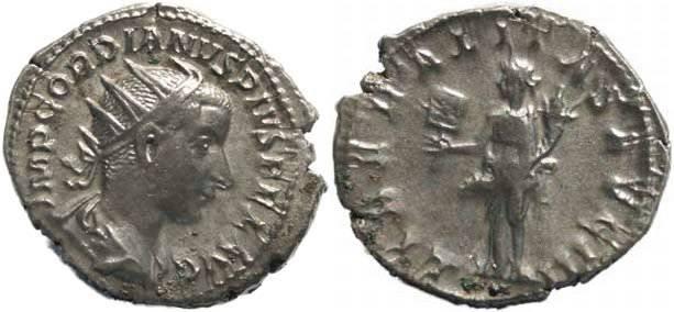 Ancient Coins - Gordian III 238-244AD Antoninianus - LIBERALITAS AVG