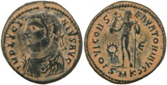 Ancient Coins - Licinius I - IOVI CONSERVATORI AVGG - Cyzicus Mint