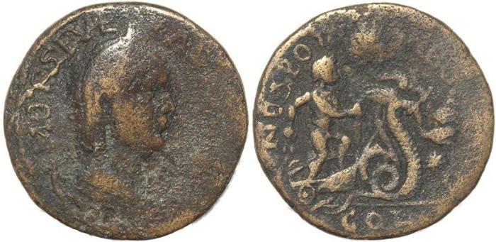 Ancient Coins - Roman Provincial coin of Otacilia Severa - Neapolis, Samaria