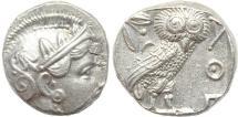 Ancient Coins - Attica Athens AR silver Tetradrachm - exceptional reverse!
