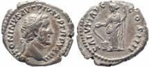 Ancient Coins - Roman coin of Antoninus Pius AR silver denarius - SALVTI AVG COS IIII