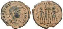 Ancient Coins - Roman coin of Constantine II - GLORIA EXERCITVS - Nicomedia Mint