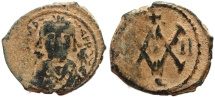 Ancient Coins - Byzantine coin of Maurice Tiberius 582-602 AD AE Half Follis - Antioch - Year II