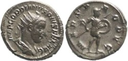 Ancient Coins - Gordian III 238-244AD Antoninianus - Mars advancing