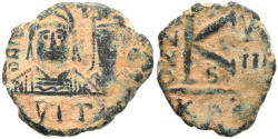 Ancient Coins - Byzantine coin of Justin II and Sophia - Carthage Mint