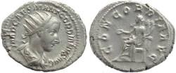 Ancient Coins - Gordian III AR silver antoninianus - CONCORDIA AVG
