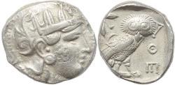 Ancient Coins - Attica Athens AR silver Tetradrachm