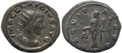 Ancient Coins - Claudius II Antoninianus - AEQVITAS AVG