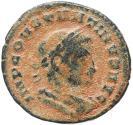 Ancient Coins - Roman coin of Constantine I - SOLI INVICTO COMITI - Lyon