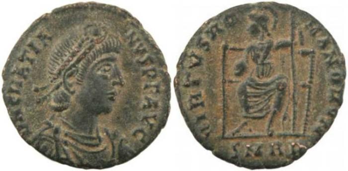 Ancient Coins - Emperor Gratian - VIRTVS ROMANORVM - Rome Mint