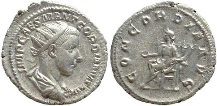 Ancient Coins - Gordian III AR silver antoninianus - CONCORDIA AVGG