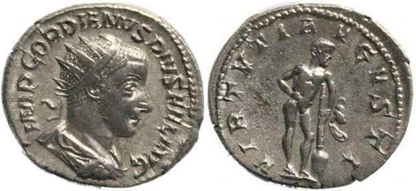 Ancient Coins - Gordian III, AR Antoninianus, AD 238-244, Rome mint