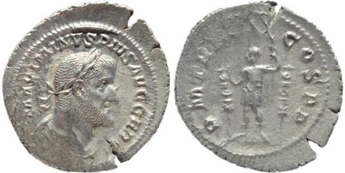Ancient Coins - Roman coin of Maximinus I 235-238AD AR silver Denarius - PM TR P IIII COS PP