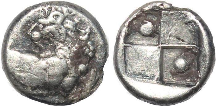 Ancient Coins - Thrace, Cherronesos AR silver hemidrachm