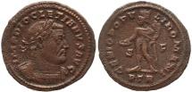 Ancient Coins - Roman coin of Diocletian Ae large follis - GENIO POPVLI ROMANI - Treveri