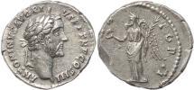 Ancient Coins - Roman coin of Antoninius Pius AR silver denarius - IMPERATOR II - Rome