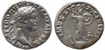 Ancient Coins - Roman coin of Domitian AR silver denarius -  IMP XXI COS XV CENS P P P