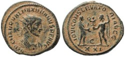 Ancient Coins - Roman Empire - Maximian - IOVI CONSERVATORI AVGG