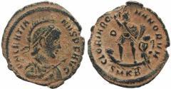 Ancient Coins - Roman coin of Gratian Ae2 - GLORIA ROMANORVM - Cyzicus