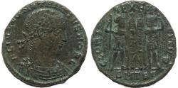 Ancient Coins - Roman coin of Constantius II - GLORIA EXERCITVS - Thessalonica