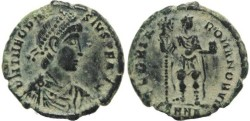 Ancient Coins - Ancient Roman coin of Theodosius I - GLORIA ROMANORVM - Nicomedia