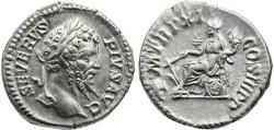 Ancient Coins - Septimius Severus 193-211 AD AR Denarius - PM TR P XI COS III PP
