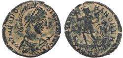 Ancient Coins - Roman coin of Theodosius I Ae2 - GLORIA ROMANORVM - Nicomedia