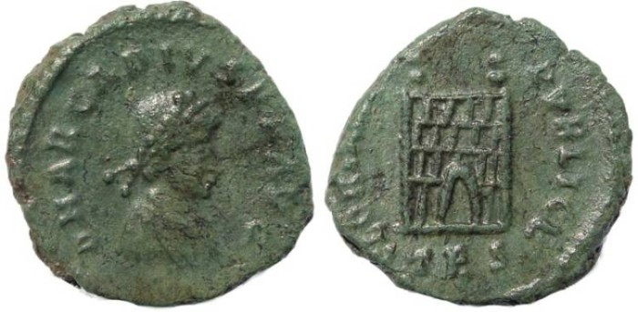 Ancient Coins - Arcadius AE4 - GLORIA REIPVBLICE - Thessalonica