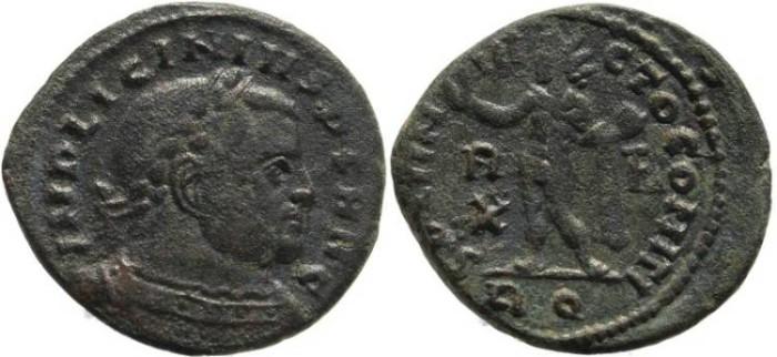 Ancient Coins - Roman coin of Licinius I - SOLI INVICTO COMITI - Rome Mint