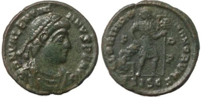 Ancient Coins - Valentinian I - GLORIA ROMANORVM - Siscia