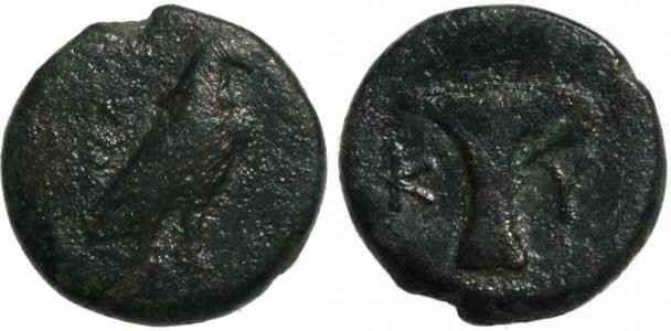 Ancient Coins - Aiolis, Kyme. 4th-3rd century BC. AE 16mm SNG Helsinki II 191; SNG von Aulock 1625