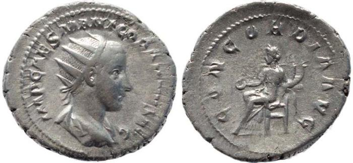 Ancient Coins - Gordian III 238-244AD silver antoninianus - CONCORDIA AVG