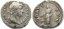 Ancient Coins - Hadrian silver denarius - SALVS AVG