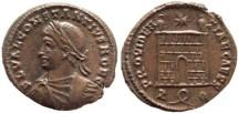 Ancient Coins - Constantius II AE Follis - PROVIDENTIAE CAESS - Rome Mint