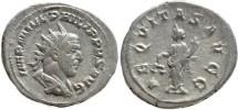 Ancient Coins - Philip I AR silver antoninianus - AEQVITAS AVGG