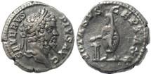 Ancient Coins - Septimius Severus AR silver denarius - VOTA SVSCEPTA XX