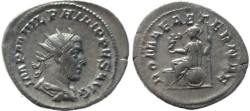 Ancient Coins - Philip I silver antoninianus - ROMAE AETERNAE